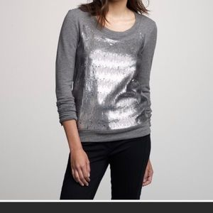 J. Crew sequined Gray Sweatshirt